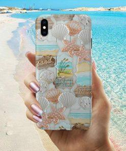 Sand Beach Relax Pattern phone case 0