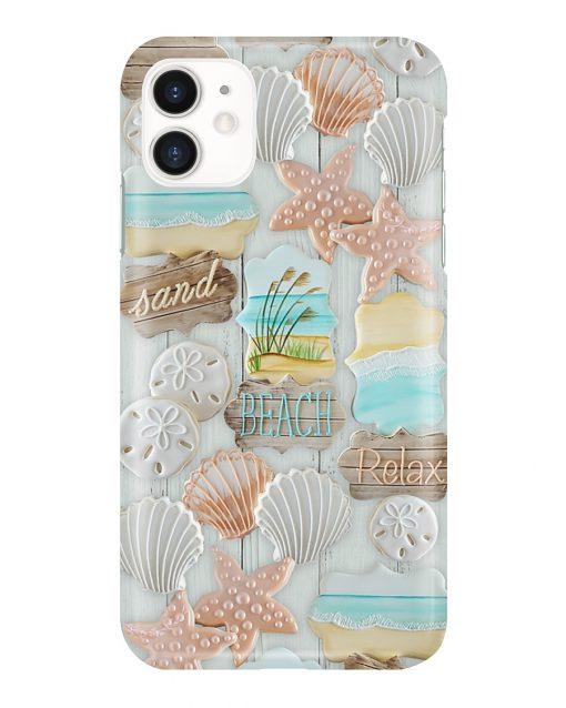 Sand Beach Relax Pattern phone case 11