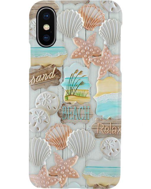 Sand Beach Relax Pattern phone case x