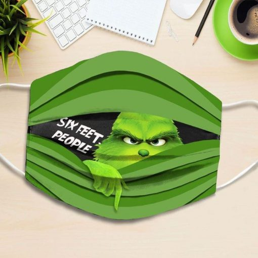Six Feet People Grinch face mask