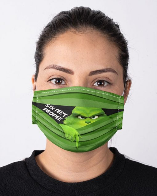 Six Feet People Grinch face mask3