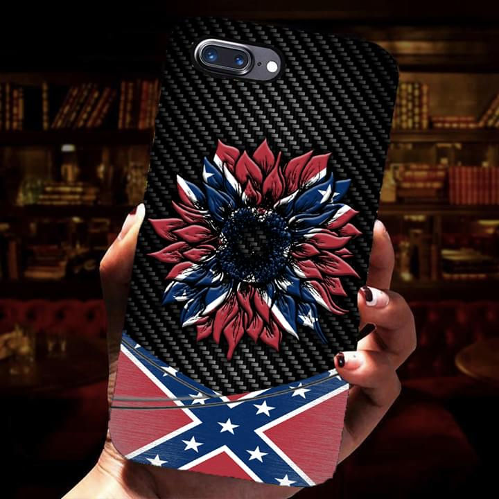 Southern United States Confederate Flag Sunflower phone case 0