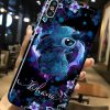 Stitch Ohana flower phone case 0