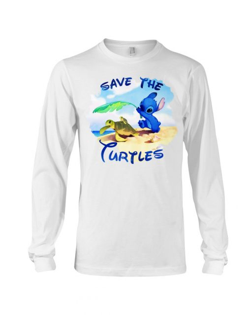 Stitch Save the turtles Long sleeve
