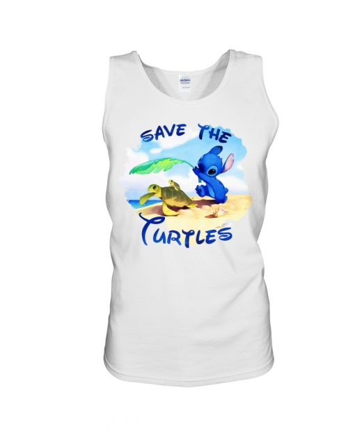 Stitch Save the turtles tank top