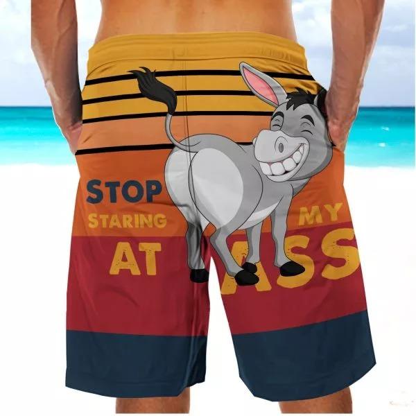 Stop Starring Donkey Beach Shorts