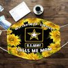 Sunflower My favorite soldier calls me mom face mask 0