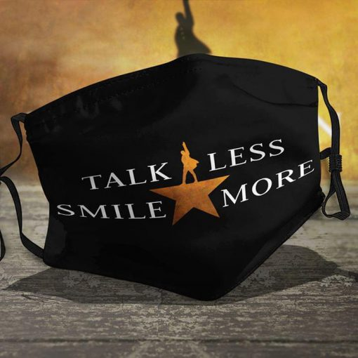 Talk Less Smile More - Aaron Burr Sir face mask 0