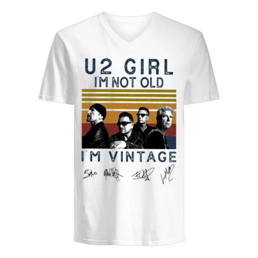 U2 Girl I'm not old I'm vintage v-neck