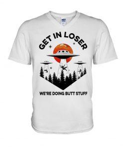 UFO Get In Loser v-neck