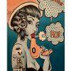 Vintage Retro Hairdresser Smoking Hot poster 1