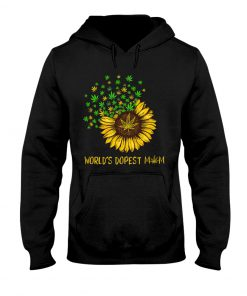 World's dopest mom weed hoodie
