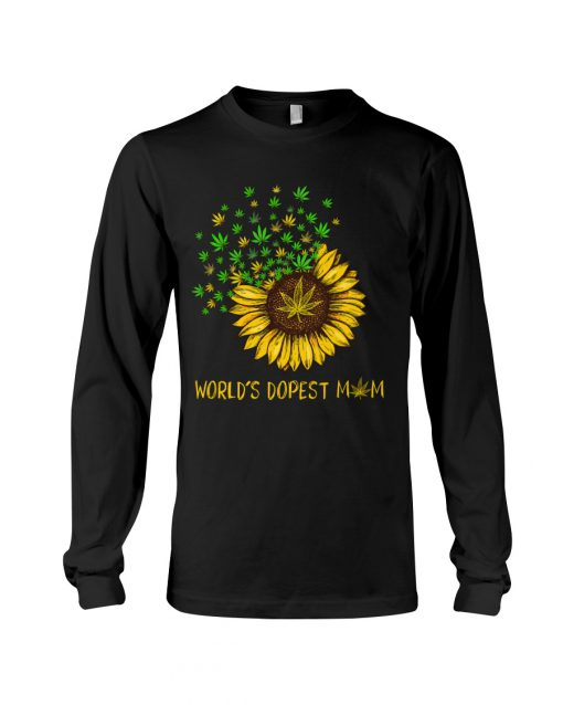 World's dopest mom weed long sleeved