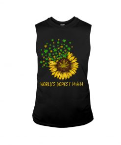 World's dopest mom weed tank top