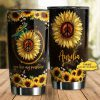 You are my sunshine sunflower personalized tumbler
