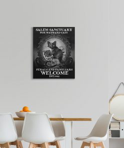 salem sanctuary for wayward cats ferals and familiars welcome est. 1692 poster gallery wrapped canvas2