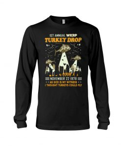 1st Annual WKRP Turkey Drop November 22 1978 as god is my witness I thought turkeys could fly long sleeved