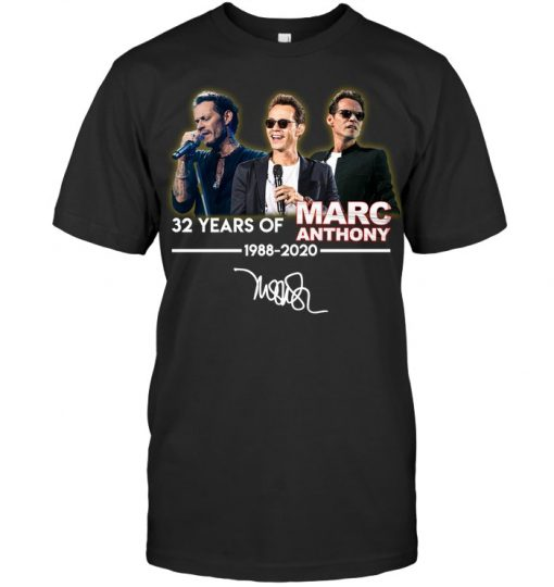 32 Years of Marc Anthony 1988-2020 T-shirt
