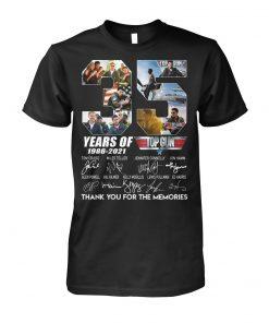 35 Years of Top Gun 1986-2021 signatures T-shirt