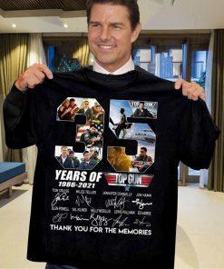 35 Years of Top Gun 1986-2021 signatures shirt