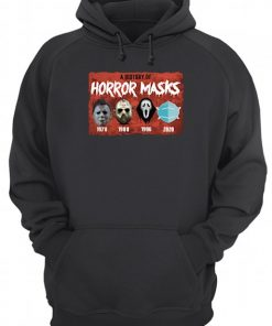 A history of horror masks 1978 1980 1996 2020 Hoodie