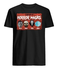 A history of horror masks 1978 1980 1996 2020 T-shirt