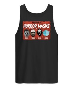 A history of horror masks 1978 1980 1996 2020 Tank top