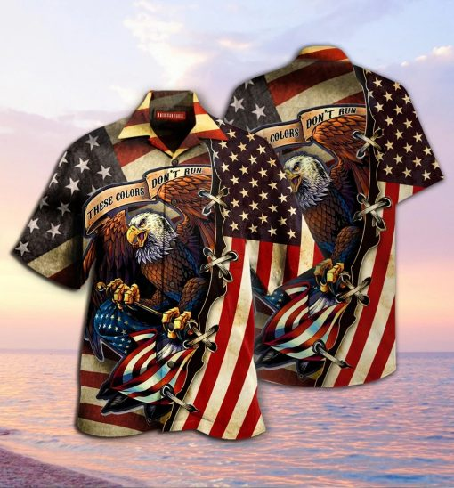 American Eagle These colors don't run 3D Hawaiian shirt2