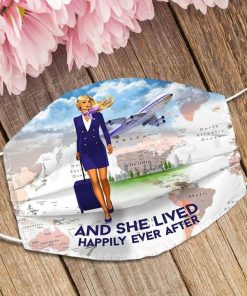 And she lived happily ever after Flight Attendant face mask