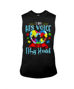 Autism I am his voice he is my heart tank top