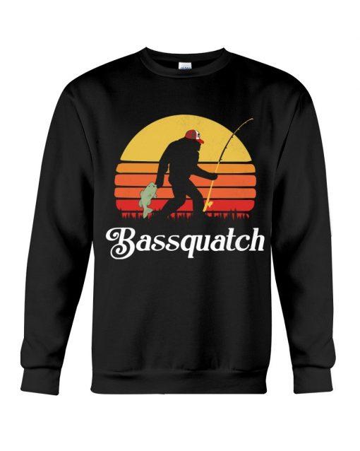 Bassquatch - Bigfoot Fishing Sweatshirt