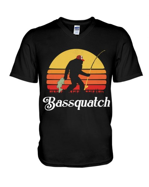 Bassquatch - Bigfoot Fishing V-neck
