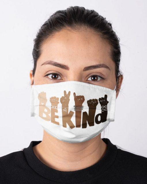 Be kind sign language face mask2