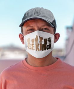 Be kind sign language face mask3