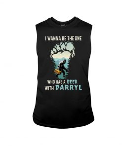 Bigfoot I wanna be the one who has a beer with darryl tank top
