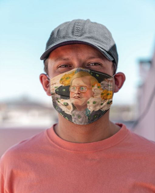 Bubbles and kitties Trailer Park face mask5