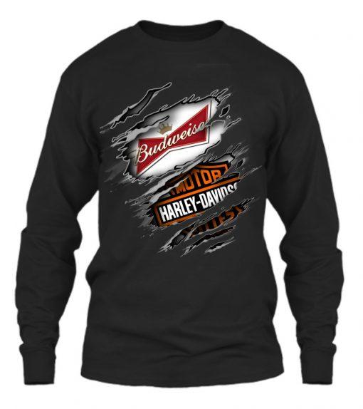 Budweiser Harley Davidson long sleeved