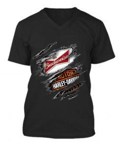 Budweiser Harley Davidson v-neck