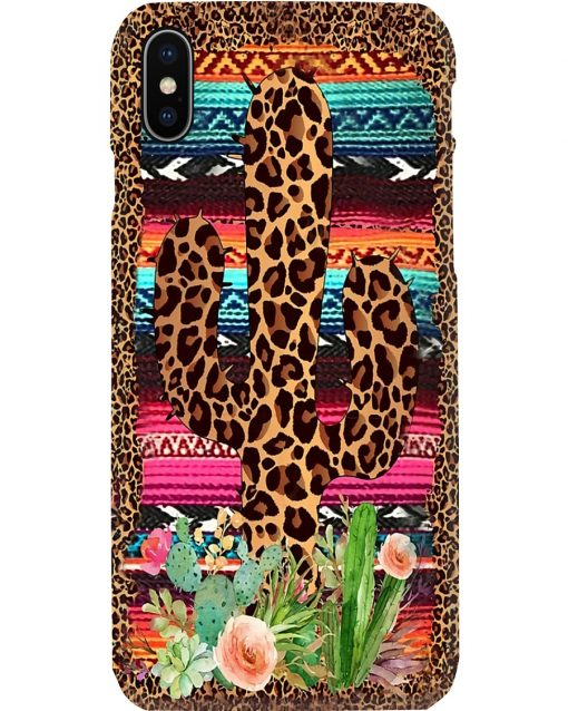 Cactus Flowers Leopard Skin phone case 7