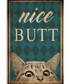 Cat Nice Butt poster