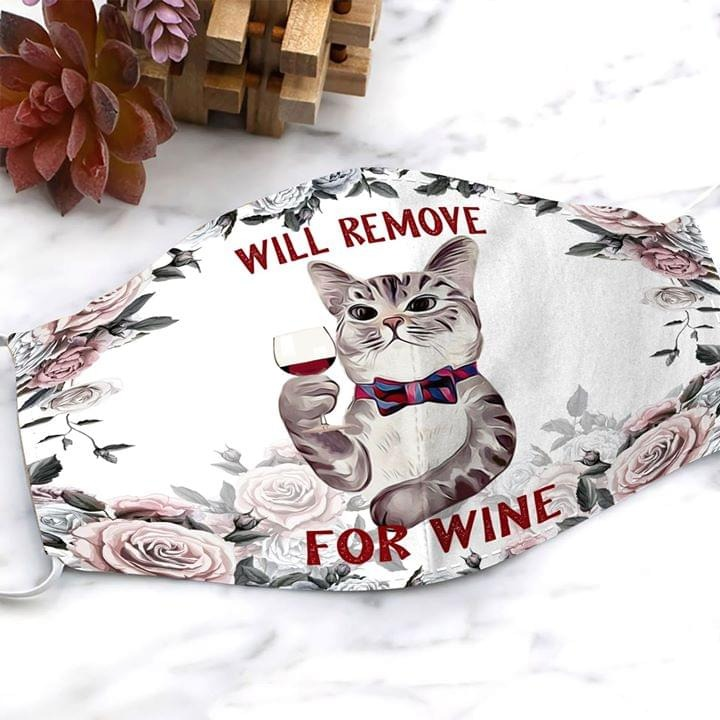 Cat Will remove for wine face mask 0
