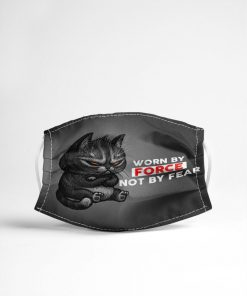 Cat Worn by force not by fear face mask4