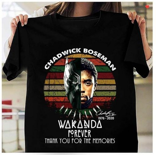 Chadwick Boseman Wakanda Forever Thank you for the memories vintage shirt 0