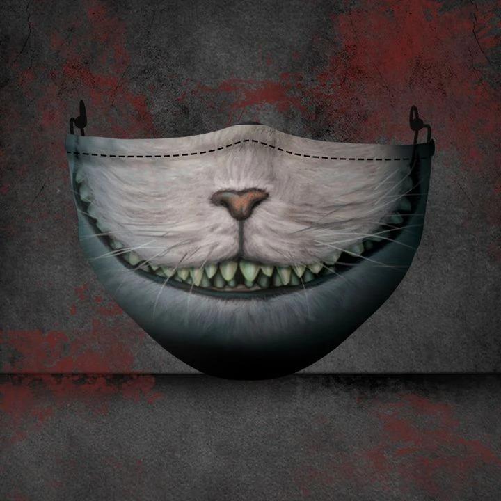 Cheshire Cat Alice's Adventures in Wonderland 3D face mask