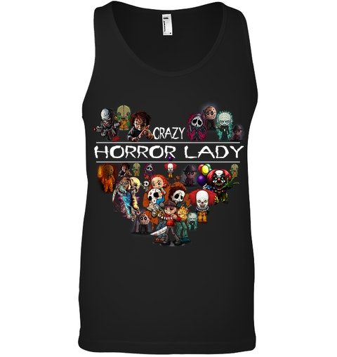 Crazy Horror Lady tank top