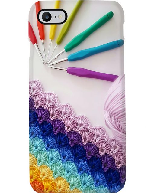 Crochet and Knitting Colorful Yarn phone case