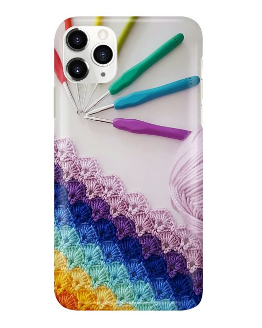 Crochet and Knitting Colorful Yarn phone case1