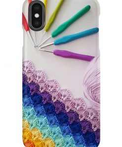 Crochet and Knitting Colorful Yarn phone case2