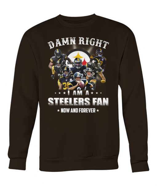 Damn right I am a Steelers fan now and forever sweatshirt