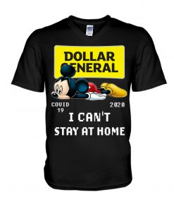 Dollar General I can't stay at home Mickey Mouse v-neck